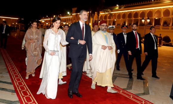 Mohamed VI recibe dos veces a los Reyes