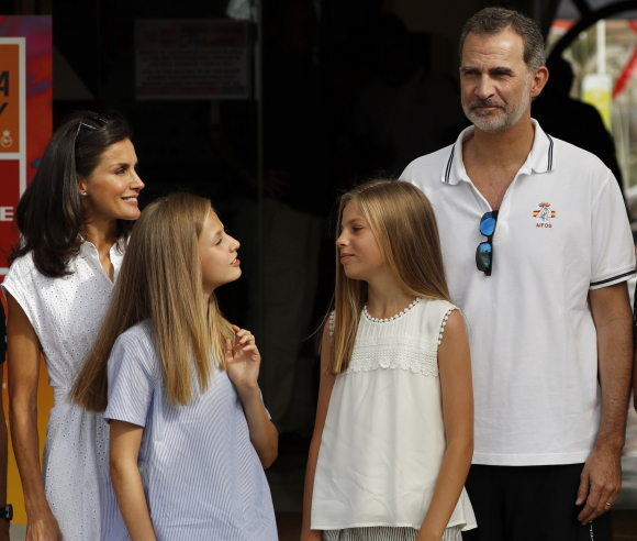 Los Reyes inician sus vacaciones en Palma de Mallorca